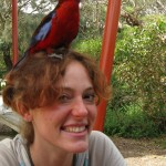 there's a rosella on my head at Wilson's Prom, Australia!