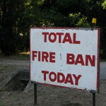 total fire ban sign in Australia