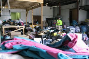 relief warehouse for the Victorian Bushfires