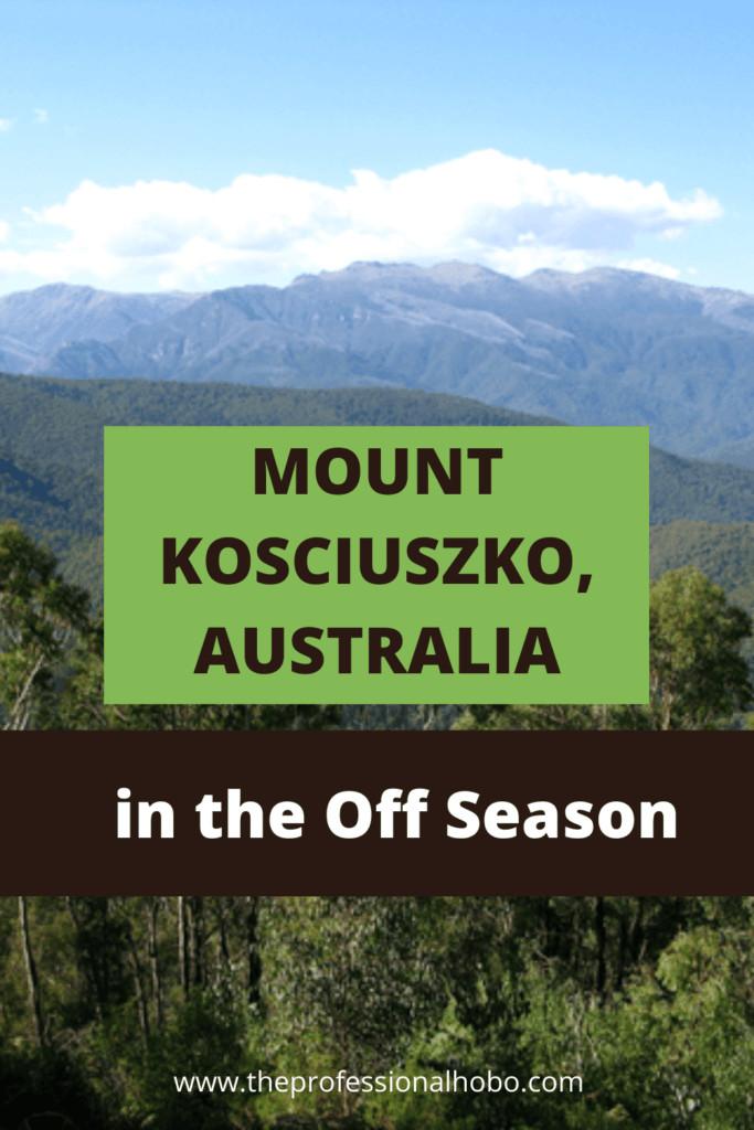 Mount Kosciuszko is Australia's highest mountain, but climbing it isn't as hard as you might think. Here's what to expect. #Australia #MtKosciuszko #Kozzy #MountKosciuszko #traveltips #TheProfessionalHobo #hiking