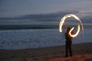 fire spinning - a different kind of fire than the victoria bush fires