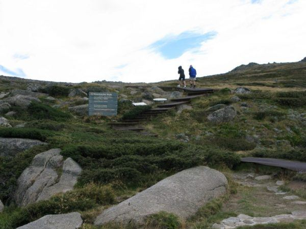 The hiking trail to the top of Mount Kosciuszko