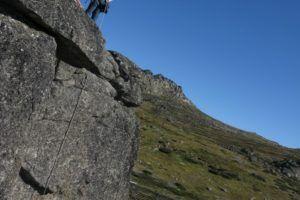 rappelling off Mt Kosciuszko