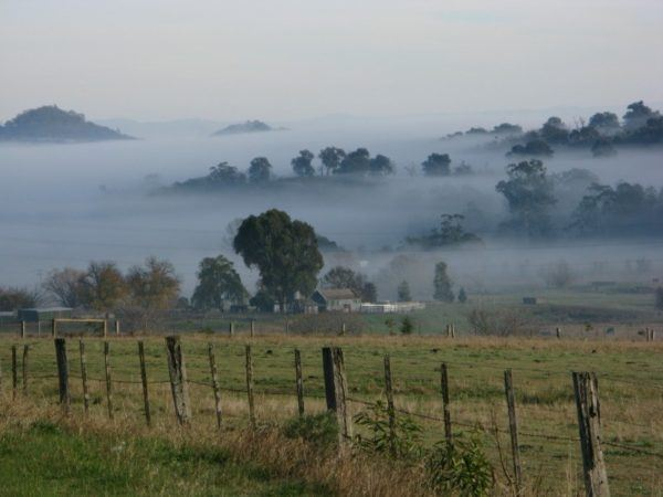 layers of fog in winter in southern Australia