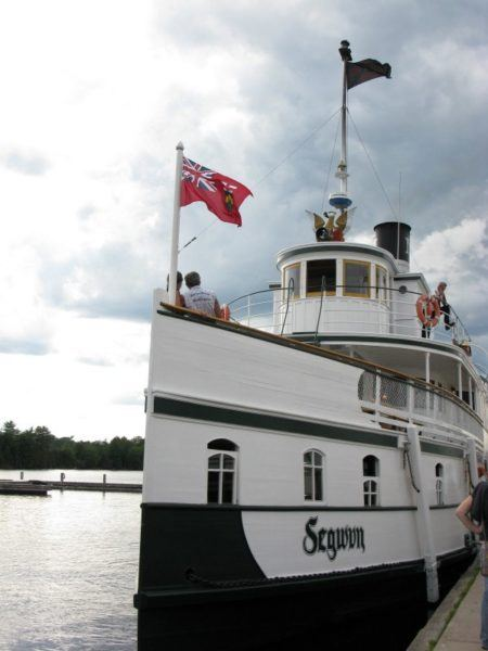 The beautiful historic steamship Segwun, in Muskoka