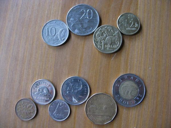 Canadian versus Australian coins