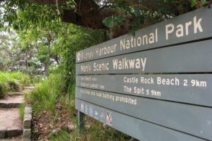 Manly Scenic Walkway entrance sign, Sydney Harbour National Park