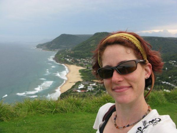 Nora Dunn, The Professional Hobo, above Wollongong beach
