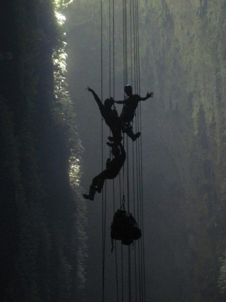 Abseiling in New Zealand