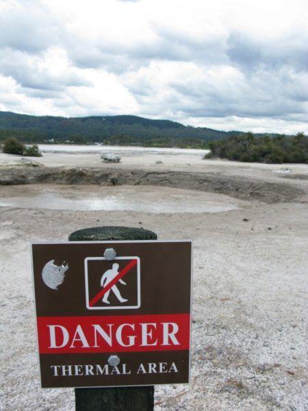 Thermal area in Rotorua New Zealand