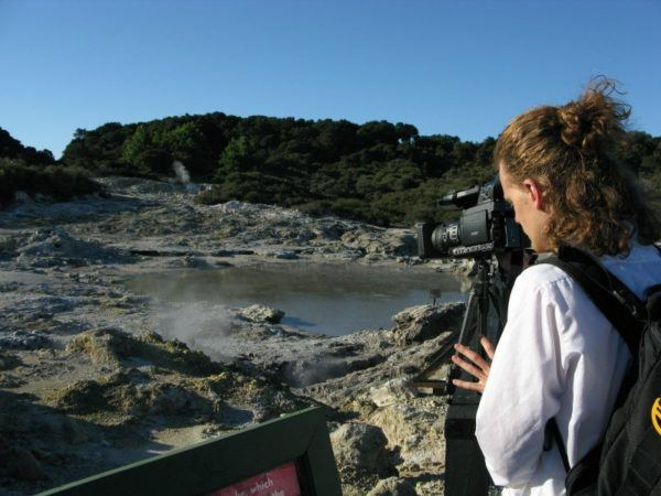 shooting a tv show in New Zealand at Hells' Gate