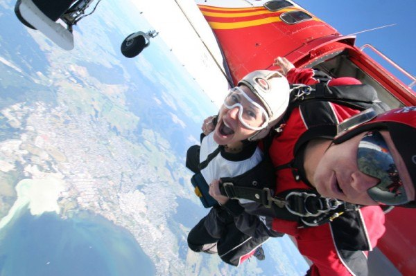 The Professional Hobo skydiving in New Zealand