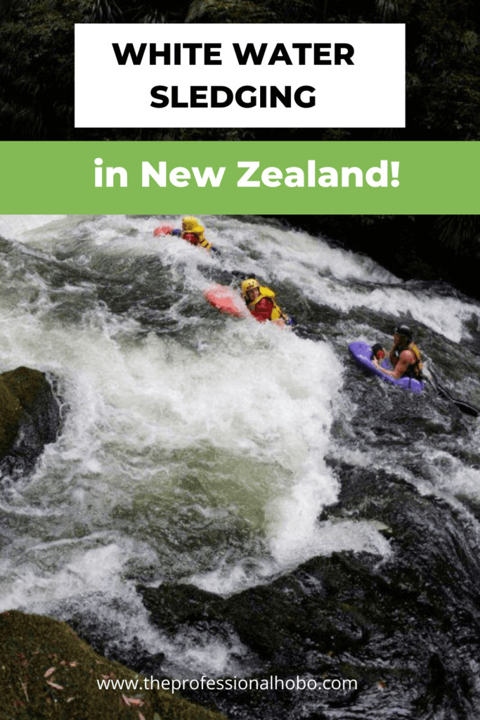 Join me as I take a helicopter to a remote spot and try white water sledging in New Zealand! It's EPIC. #NewZealand #whitewater #sledging #adveturetravel #TheProfessionalHobo