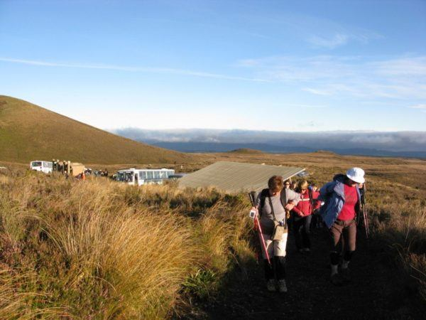 The Start of the Tongariro Alpine Crossing