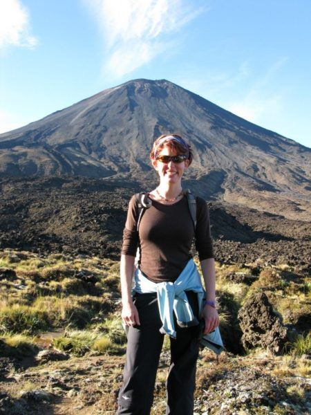 Nora Dunn In front of the famous Mount Doom New Zealand