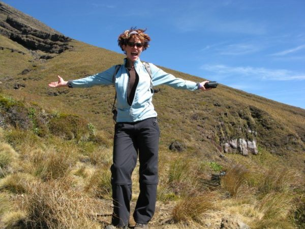 Nora Dunn, The Professional Hobo, feeling pretty good about Tongariro
