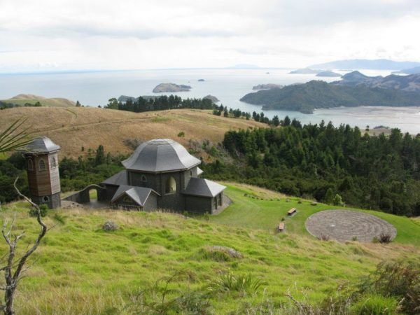 Overlooking the Sanctuary, which overlooks the ocean on the North Island of New Zealand