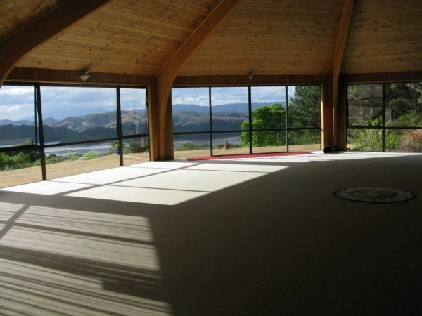 The Octagon room at Mana Retreat, with a killer view