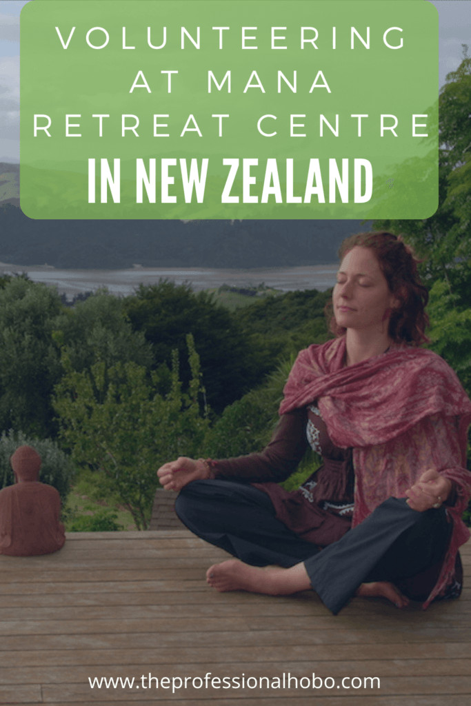 Living at Mana retreat centre in New Zealand for free as part of their volunteer work exchange program was one of my all-time best travel experiences! Here's what it's like. #NewZealand #Coromandel #ManaRetreat #volunteering #workexchange #freeaccommodation #TheProfessionalHobo #NoraDunn
