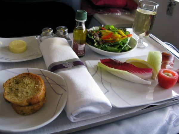 business class dining