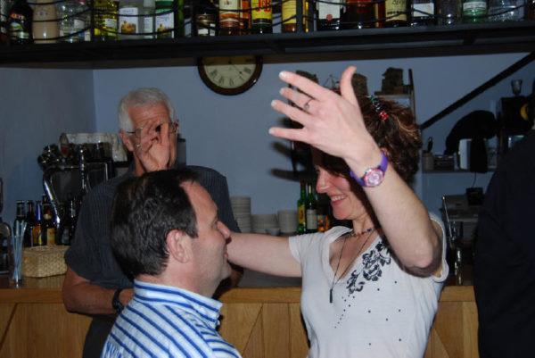 dancing the night away at Vaughan Town in Valdevilla Spain