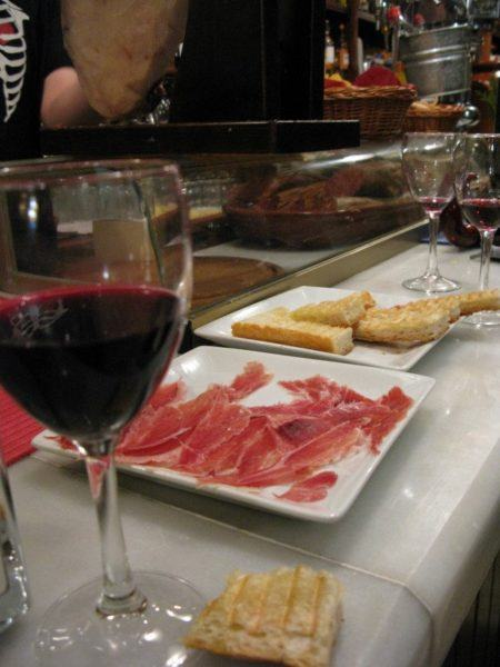 wine and tapas in Spain