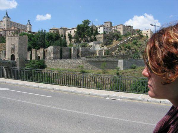Outside Toledo's walled city