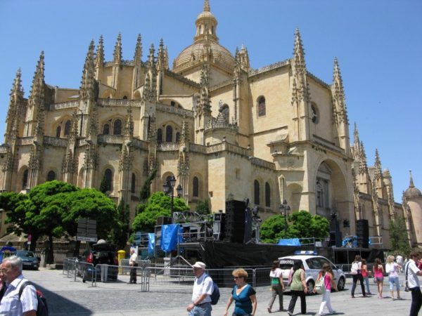 the big cathedral in Segovia