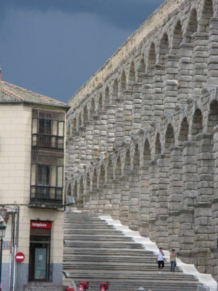 the aqueduct in Segovia Spain