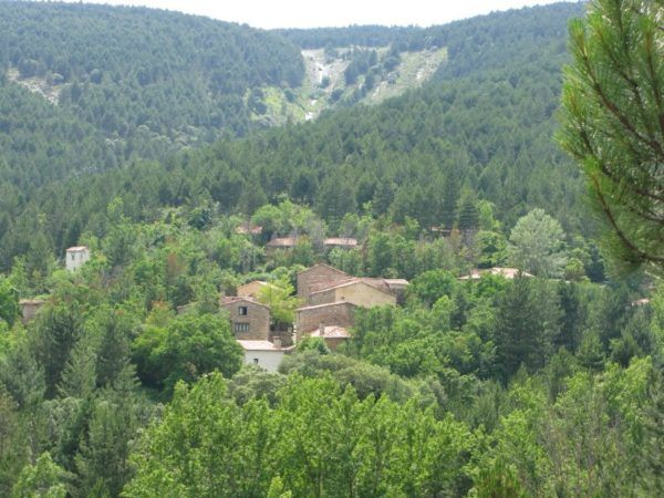 Valdelavilla from a distance, in the Spanish countryside