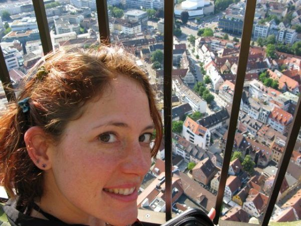 The Professional Hobo enjoying the view over Ulm Germany