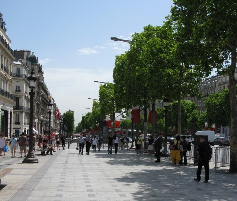 strolling the Champs Elysees