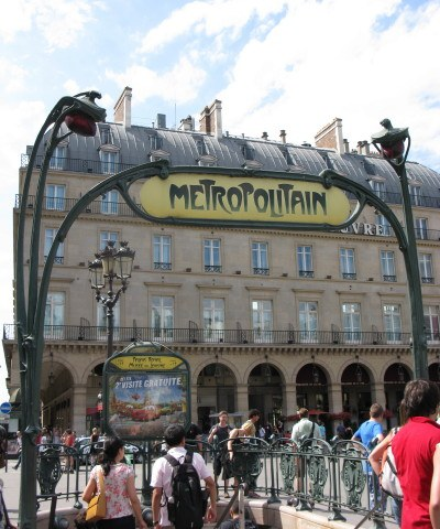 Metro stop, famous for its art deco, one of many Paris highlights