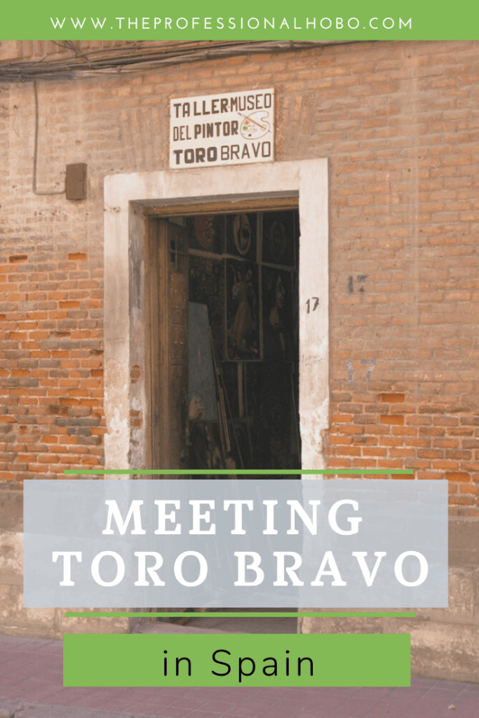 The gallery of Toro Bravo in Alcala Spain was an incredible discovery as a traveler! Here's why. #Spain #Alcala #ToroBravo #travelpeople #TheProfessionalHobo #meetingpeople