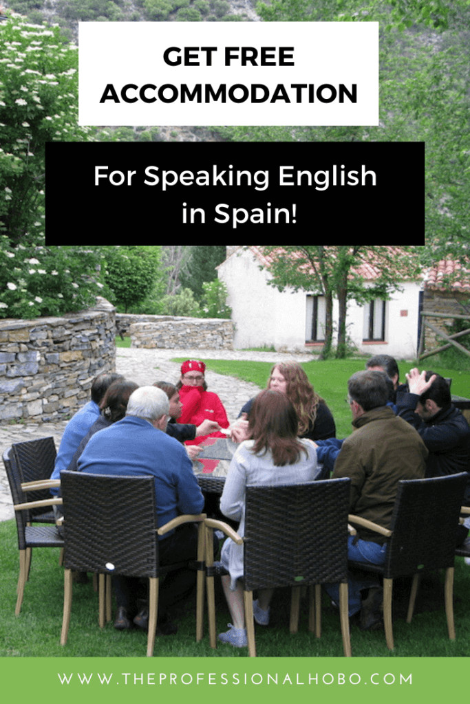 Vaughan Town is a volunteer program where you get free accommodation and meals in exchange for conversational English with Spaniards. Here's what it's like (as well as other similar programs). #volunteer #travel #vaughantown #Spain #workexchange #TheProfessionalHobo
