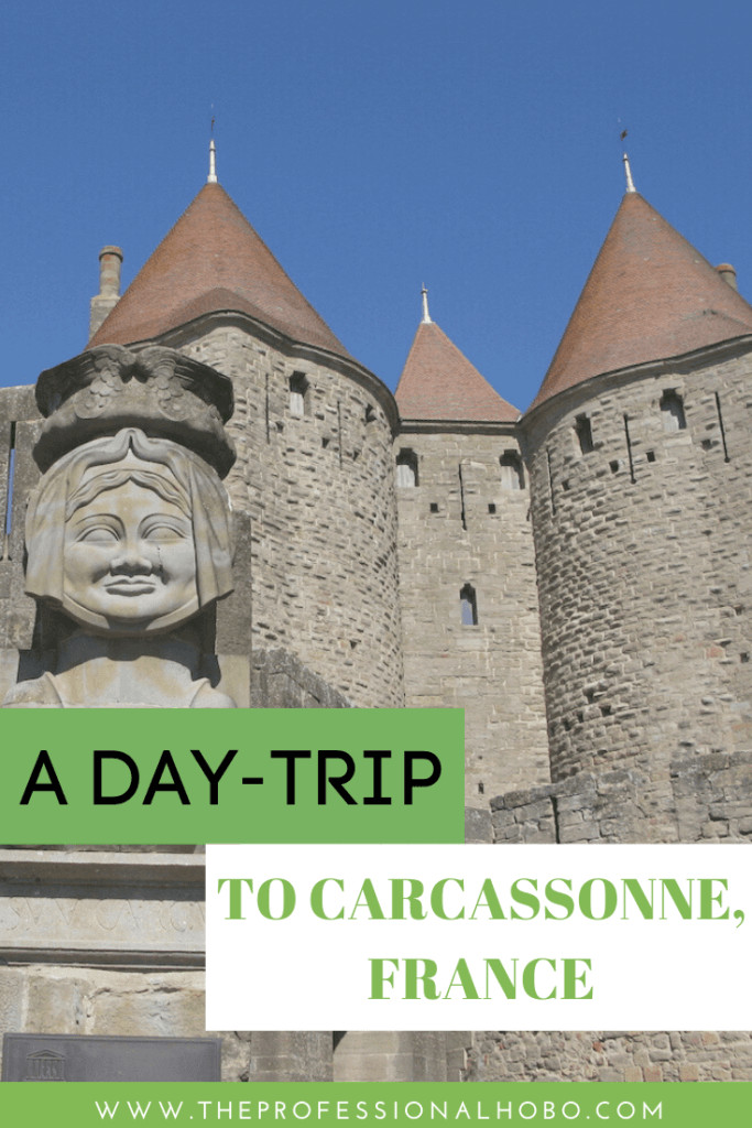 The walled city of Carcassonne France is a sight to behold! Well worth a day trip (at least). #France #Carcassonne #walledcity #castles #TheProfessionalHobo #travel