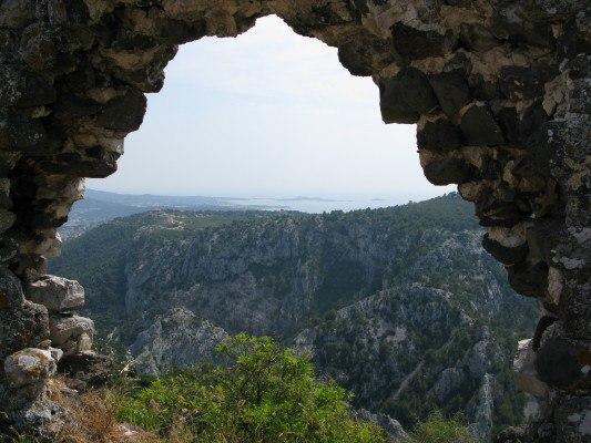 ruins and views