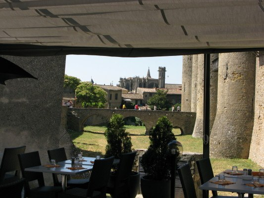 lunch in Carcassonne