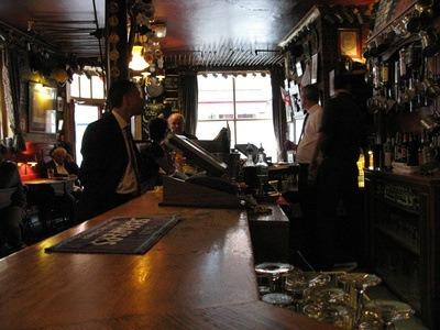 The bar at a charming English pub