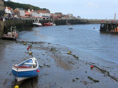 tide's out in Whitby