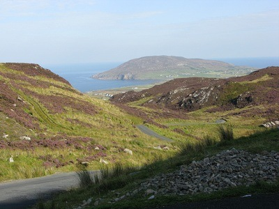 Mamore Gap in Ireland; view from the pass
