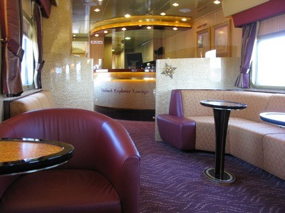 The Outback Explorer: the lounge car of The Ghan train