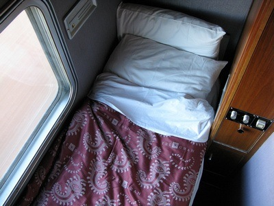 sleeping quarters in The Ghan's gold class