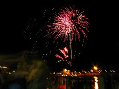 fireworks at Hillary's Boat Harbour