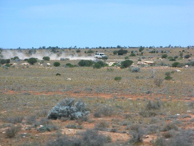 The Nullarbor Desert in Australia, near Kalgoorlie