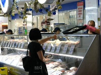 Adelaide Central Market fish monger