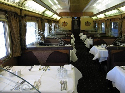 dining car of the Indian Pacific Train