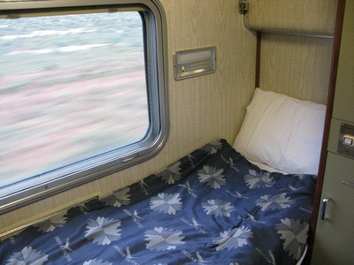 the bed on the Indian Pacific Train