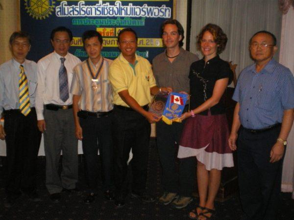 Rotary fundraising in Chiang Mai for Cyclone Nargis victims