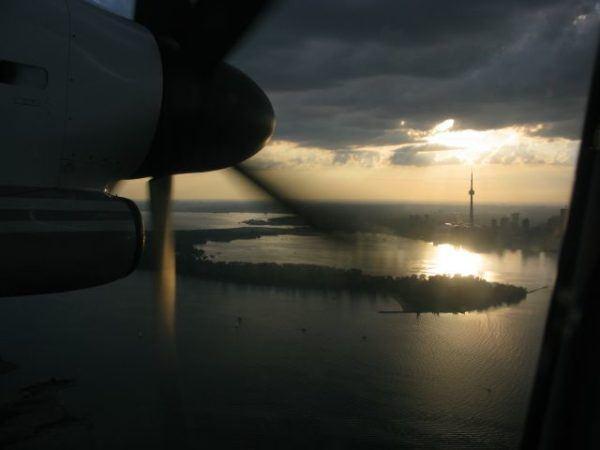 Flying into Toronto